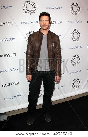 LOS ANGELES - FEB 27:  Dylan McDermott arrives at the PaleyFest Icon Award 2013 at the Paley Center For Media on February 27, 2013 in Beverly Hills, CA