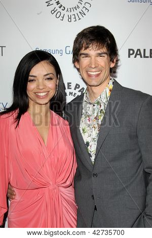 LOS ANGELES - FEB 27:  Anel Lopez Gorham, Christopher Gorham arrive at the PaleyFest Icon Award 2013 at the Paley Center For Media on February 27, 2013 in Beverly Hills, CA