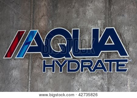 LOS ANGELES - FEB 26:  Aqua Hydrate symbol at the Aqua Hydrate Press Conference at the Private Location on February 26, 2013 in West Hollywood, CA