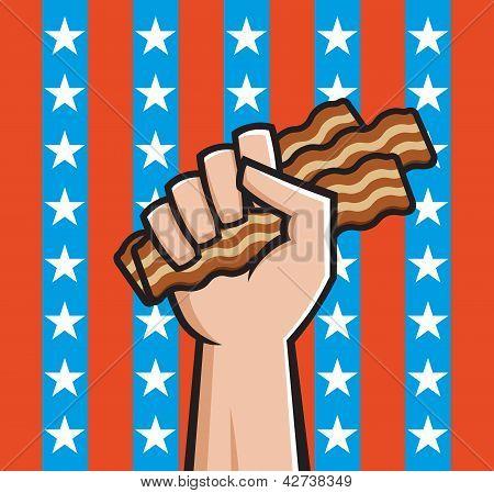 Fist Full Of American Bacon
