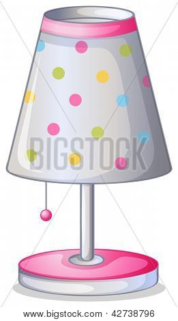 Illustration of lampshade on a white background