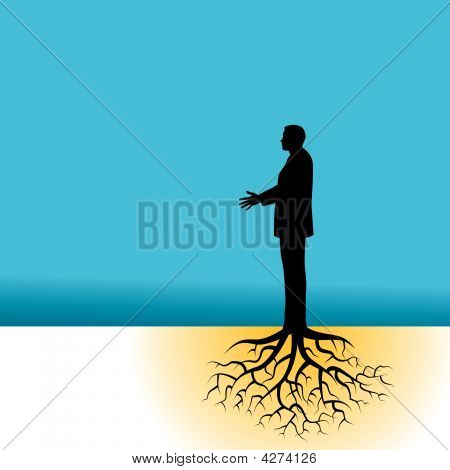 Tree Businessman Roots