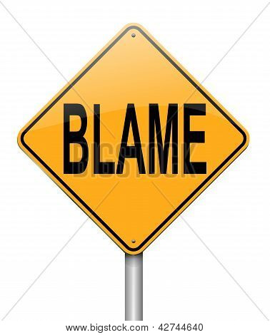 Blame Concept.