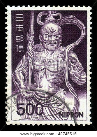 Deva King estatua, Kongo Rikishi, figura de madera