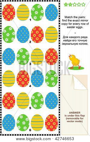 Easter eggs visual puzzle