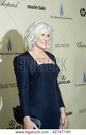 BEVERLY HILLS, CA - JAN. 13: Glenn Close arrives at the Weinstein Company's 2013 Golden Globes After Party on Sunday, January 13, 2013 at the Beverly Hilton Hotel in Beverly Hills, CA.
