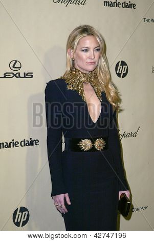 BEVERLY HILLS, CA - JAN. 13: Kate Hudson arrives at the Weinstein Company's 2013 Golden Globes After Party on Sunday, January 13, 2013 at the Beverly Hilton Hotel in Beverly Hills, CA.
