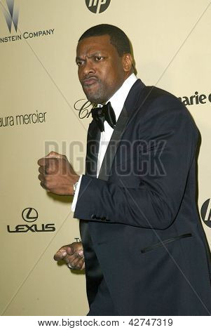 BEVERLY HILLS, CA - JAN. 13: Chris Tucker arrives at the Weinstein Company's 2013 Golden Globes After Party on Sunday, January 13, 2013 at the Beverly Hilton Hotel in Beverly Hills, CA.