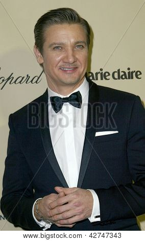 BEVERLY HILLS, CA - JAN. 13: Jeremy Renner arrives at the Weinstein Company's 2013 Golden Globes After Party on Sunday, January 13, 2013 at the Beverly Hilton Hotel in Beverly Hills, CA.