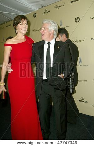 BEVERLY HILLS - JAN. 13: Carrie Lowell & Richard Gere arrive at the Weinstein Company's 2013 Golden Globes After Party on Sunday, January 13, 2013 at the Beverly Hilton Hotel in Beverly Hills, CA.