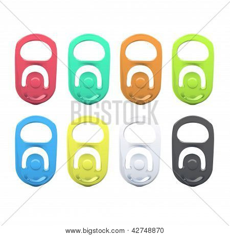 Set Of Colorful Ring Of Can. Vector Design.