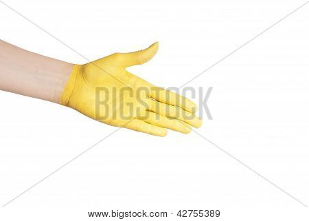 A Yellow Handshake
