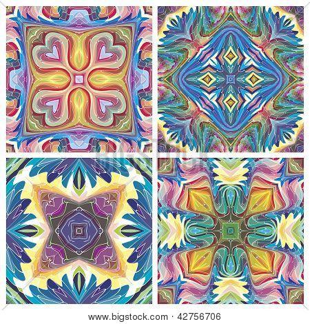 American tribal art pattern