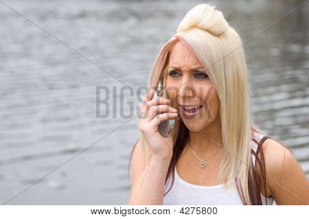 Blonde Girl On The Phone