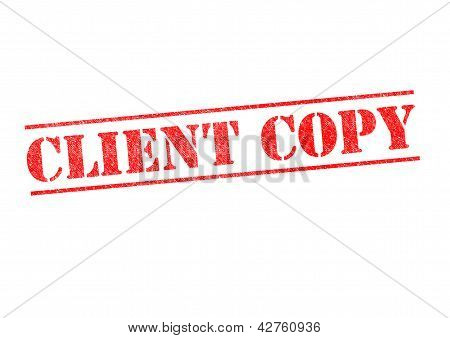 Client Copy Stamp