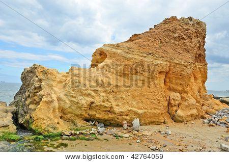 Rock beside sea in Odessa