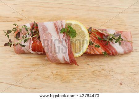 Salmon Steak On A Board