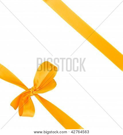 yellow bow on white