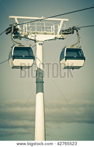 Cable Car In Expo District, Lisbon, Portugal.
