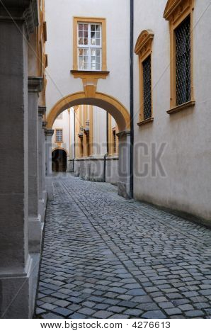 Passageway At Abbey In Melk, Austria