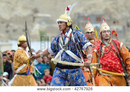 Dancers On Festival Of Ladakh Heritage