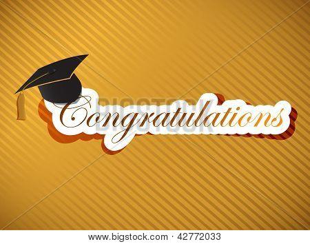 Graduação - Parabéns letras