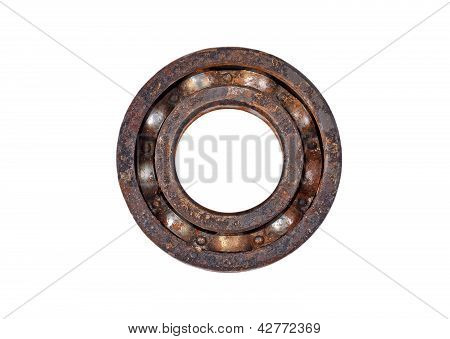 Old and rusty ball bearings