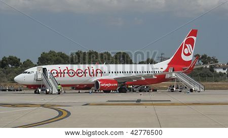 German's Air Berlin - Boeing 737-800 in Palma de Mallorca airport