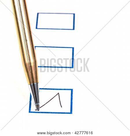 Poner señal en caja azul cuadrada
