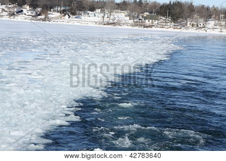 Ice Chunks in Lake