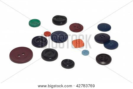 Different Coloured And Sized Buttons