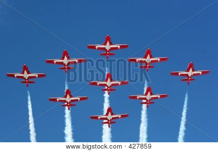 Snowbirds In Formation