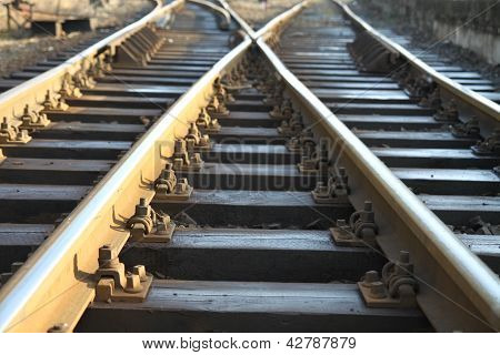 Cross on rail track