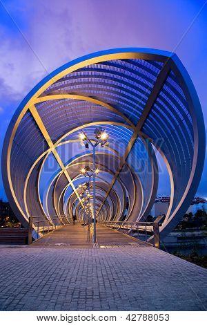Perrault Bridge At Night