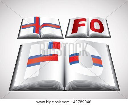 National Flag concept of Faeroe Islands. Editable vector format.
