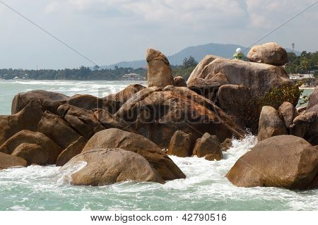 Grandfather rock on Koh Samui, Thailand