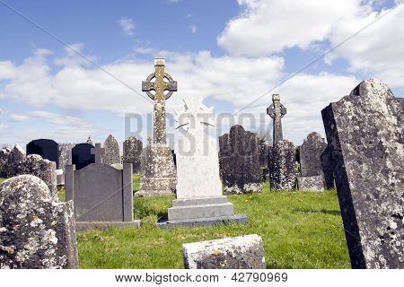 Old Ancient Irish Celtic Graveyard