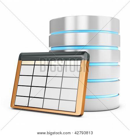 Tabla de la base de datos 3D