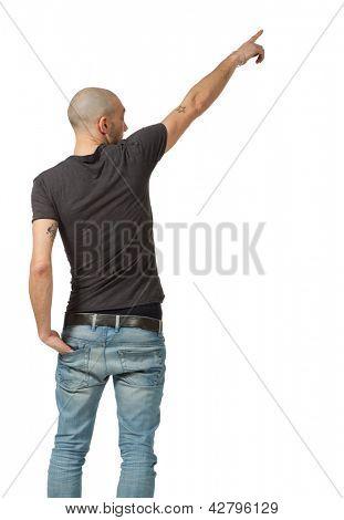 man on white background