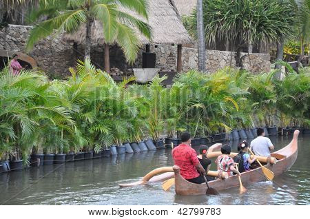 Polynesian Cultural Center in Laie, Oahu, Hawaii