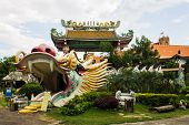 The Dragon And China Temple Chonbur