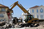 Rebuilding continues in devastated area four months after Hurricane Sandy
