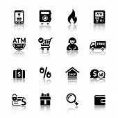 Set shopping icons