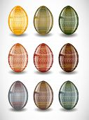 image of pasqua  - Set of easter eggs - JPG