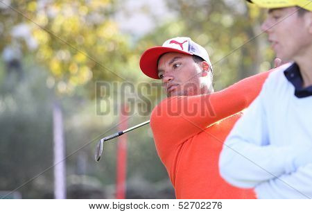 Neil Jones at the golf Masters 13, 2013