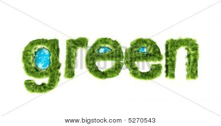Global Green Environmental Protection Concept