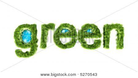 Global Green Environmental Protection Concept