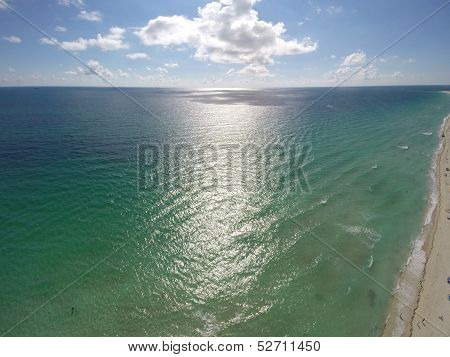Aerial photo of Miami Beach
