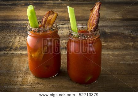 Mason Jar Bacon Bloody Marys