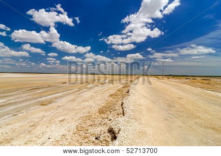 Dirt Road In A Desert